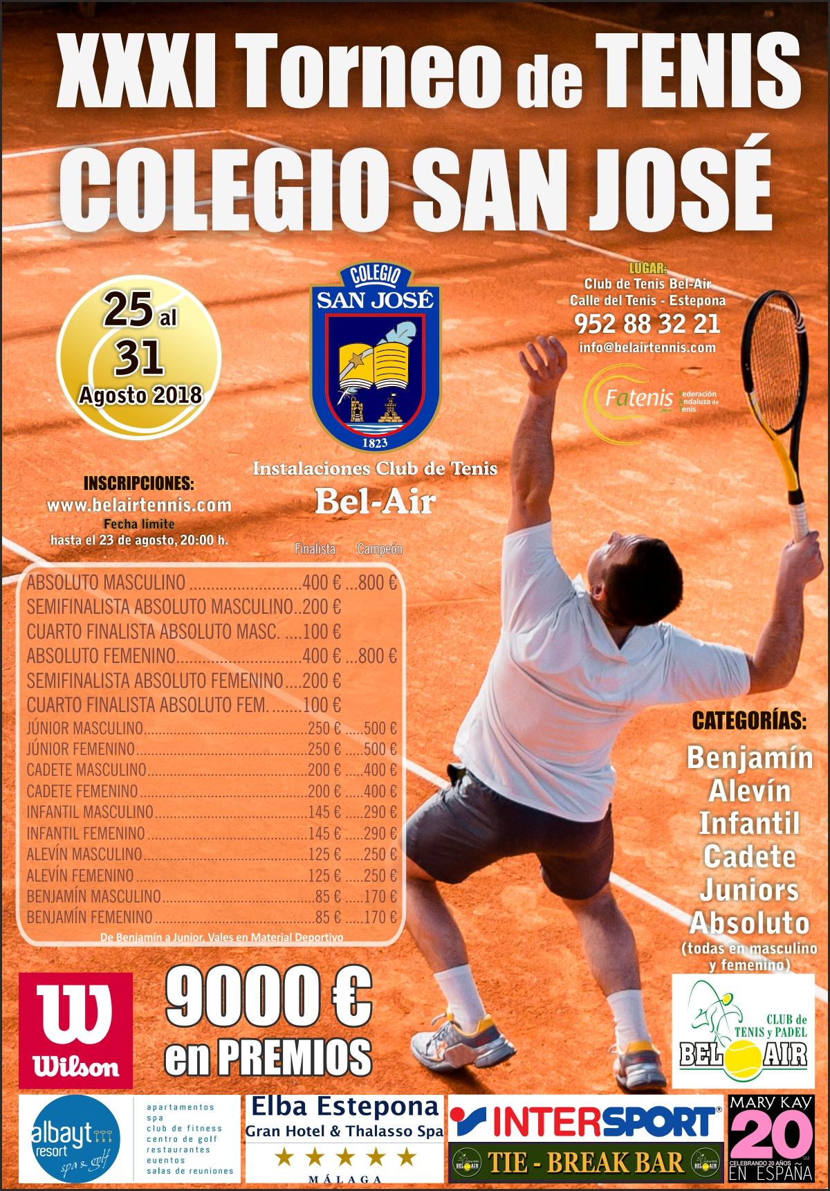 6a35588353a El XXXI Torneo de Tenis Colegio San José